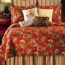 Florentine Red Floral Quilt by Williamsburg | Country House ... & Florentine Red Floral Quilt by Williamsburg Adamdwight.com