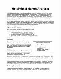industry analysis template example of a marketing report and plan the sample market analysis
