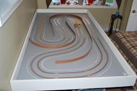 track in one day almost slot car illustrated forum he will be doing all the scenery from this point on the track runs great and i was so happy the way it turned out today i routed another the same