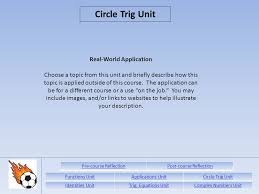 functions unitapplications unitcircle trig unit identities 16 real world