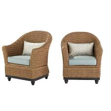 fretwork furniture. Home Decorators Collection Camden Light Brown Wicker Outdoor Porch Chat Lounge Chair With Fretwork Mist Cushions Furniture