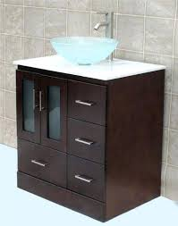 glass bowl vanity solid wood bathroom vanity cabinet glass vessel sink faucet mo glass bowl