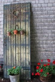 outdoor decor using old doors home design