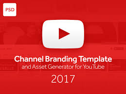 Youtube Template Psd Psd Channel Branding Template And Asset Generator For