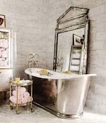Vintage Bathroom Wallpaper Design for Classic Sense Dream fun