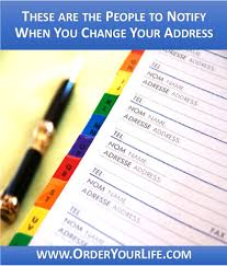 Change Of Address Who To Notify People To Notify When I Move Change Of Address Order Your Life