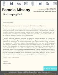 Financial Statement Cover Letter Bookkeeping Clerk Cover Letter Example