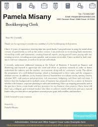 Sample Accounts Receivable Clerk Cover Letter Bookkeeping Clerk Cover Letter Example