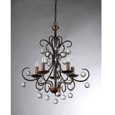 fancy plush design oil rubbed bronze chandelier with crystals 5