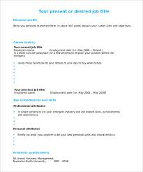 Resume Template Fill In Fascinating Easy Fill In Resume Templates Ready Cv To Fill In Onwebioinnovateco