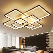 designer modern lighting. new square rings designer modern led ceiling lights lamp for living room lobby kitchen remote control lighting e