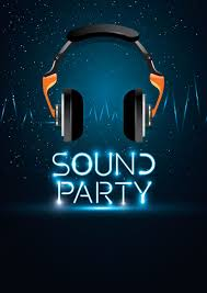 Poster Design Party Sound Party Poster Design Vector Image 1964176