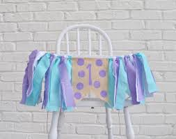 girl birthday banner mermaid birthday girl birthday decor birthday banner high chair decorations under the sea party
