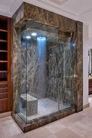 contemporary shower heads. Handheld Shower Head Bathroom Contemporary With Brown Marble Glass Shower. Image By: Young Brothers Heads