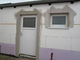 Unser Hausbau Garage In Eigenleistung Armierungsputz Um Fenster