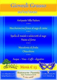 Giovedì Grasso - Villa Padura