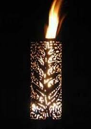 outdoor gas tiki torch hand crafted palm leaf tiki torch web