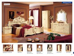 bedroom set main: barocco bedroom in in ivory lacquer finish