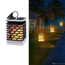 decorative solar lighting. 2018 Waterproof Solar Lights Outdoor Led Flickering Flame Torch Lantern Hanging Decorative Atmosphere Lamp For Pathway Garden Deck Christm From Lighting R