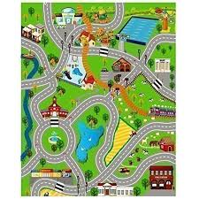 giant kids childrens city playmat fun town cars play village farm road carpet rug toy mat by childrens play mat by childrens play mat for toys