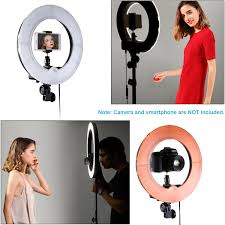 Neewer Rl 12 Led Ring Light Neewer Rl 12 Led Ring Light 14 Outer 12 On Center With