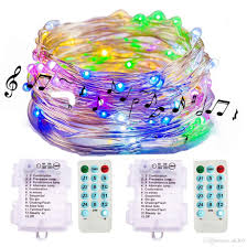 Battery Operated Led Lights With Timer Sound Activated Music Fairy Lights Battery Operated 16 4ft 50 Led Waterproof Wire Fairy String Lights With Remote Timer For Bedroom Wedding Battery
