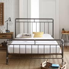 metal platform bed frame. Premier Vintage Pipeworks Queen Metal Platform Bed Frame W