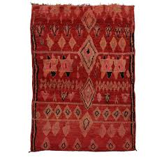 vintage berber red moroccan rug with modern tribal design and star of solomon