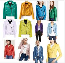 candy colored leather jackets for spring