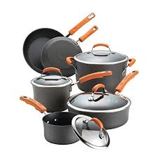 pots and pans in dishwasher.  Pans Rachael Ray Hard Anodized II Nonstick Dishwasher Safe 10Piece Cookware  Set Orange On Pots And Pans In H