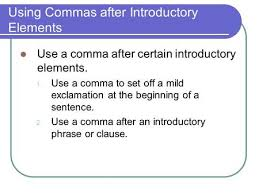 8 Comma Rules Rule 1 Use In A List I Enjoy Camping Fishing