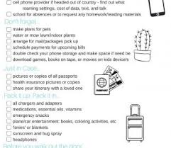 International Travel Checklist Excel From India To Usa Spreadsheet