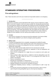 Wormald Fire Extinguisher Chart Sop Fire Extinguishers Manualzz Com