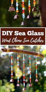 Homemade Wind Chimes Diy Sea Glass Wind Chime Suncatcher Rhythms Of Play