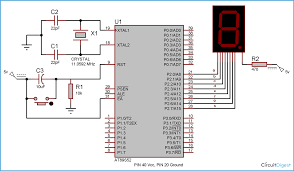 segment display interfacing microcontroller ats circuit diagram for 7 segment interfacing 8051 microcontroller