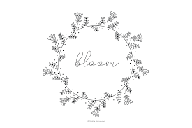 Free Embroidery Designs To Print Free Vintage Inspired Bloom Embroidery Pattern