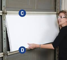 6 insert the insulation sheet between horizontal rails c and d with the channeled or