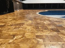 travertine after peter s pressure washing