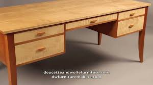 custom writing desk handmade by doucette and wolfe furniture makers you