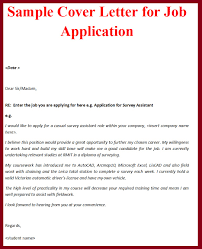 sample cover letter employment application letter format  sample