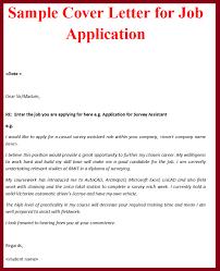 job cover letter sample letter format  cover