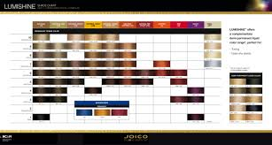 Joico Lumishine Color Chart Joico Lumishine Shade Chart Dec 15 Hair Color Shades