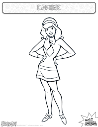 Daphne Coloring Sheet Actitivies Coloring Kids
