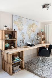 cool office decorating ideas. Un Bureau Réalisé Avec Des Caisses En Bois ! / Recup Ideas Cool Office Decorating N