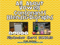 Consonant Blends Anchor Chart All About Vowels Consonants Blends Digraphs Anchor Flip Chart Bundled