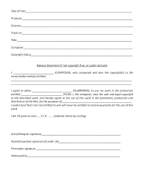 Artist Release Form Template