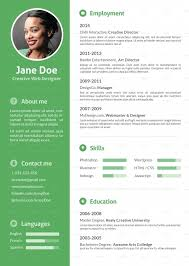 Stylish Flat Resume Ofrika Graphicriver resume format