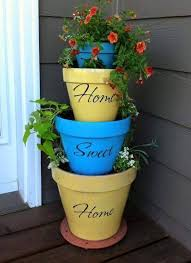 Small Picture Home Sweet Home Stacked Planters penny Pinterest Planters