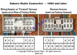 subaru legacy outback baja radio harness pin out 2002 Subaru Outback Radio Wiring Diagram radio connector pin numbers 2004 subaru outback radio wiring diagram