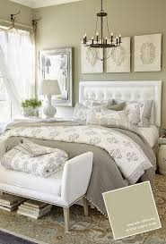 great paint colors for bedroom closets. not crazy about the wall color but love bed and bench at end of bed. neutral bedroom with useful gray from benjamin moore great paint colors for closets t
